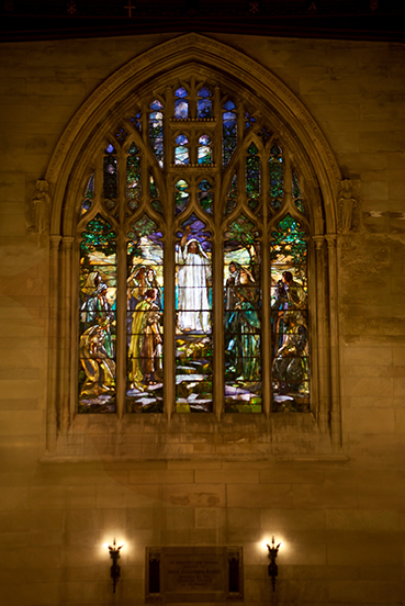 Sermon on the Mount Stained Glass